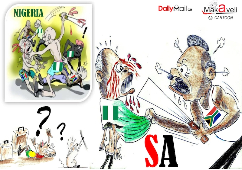 African xenophobia clipart