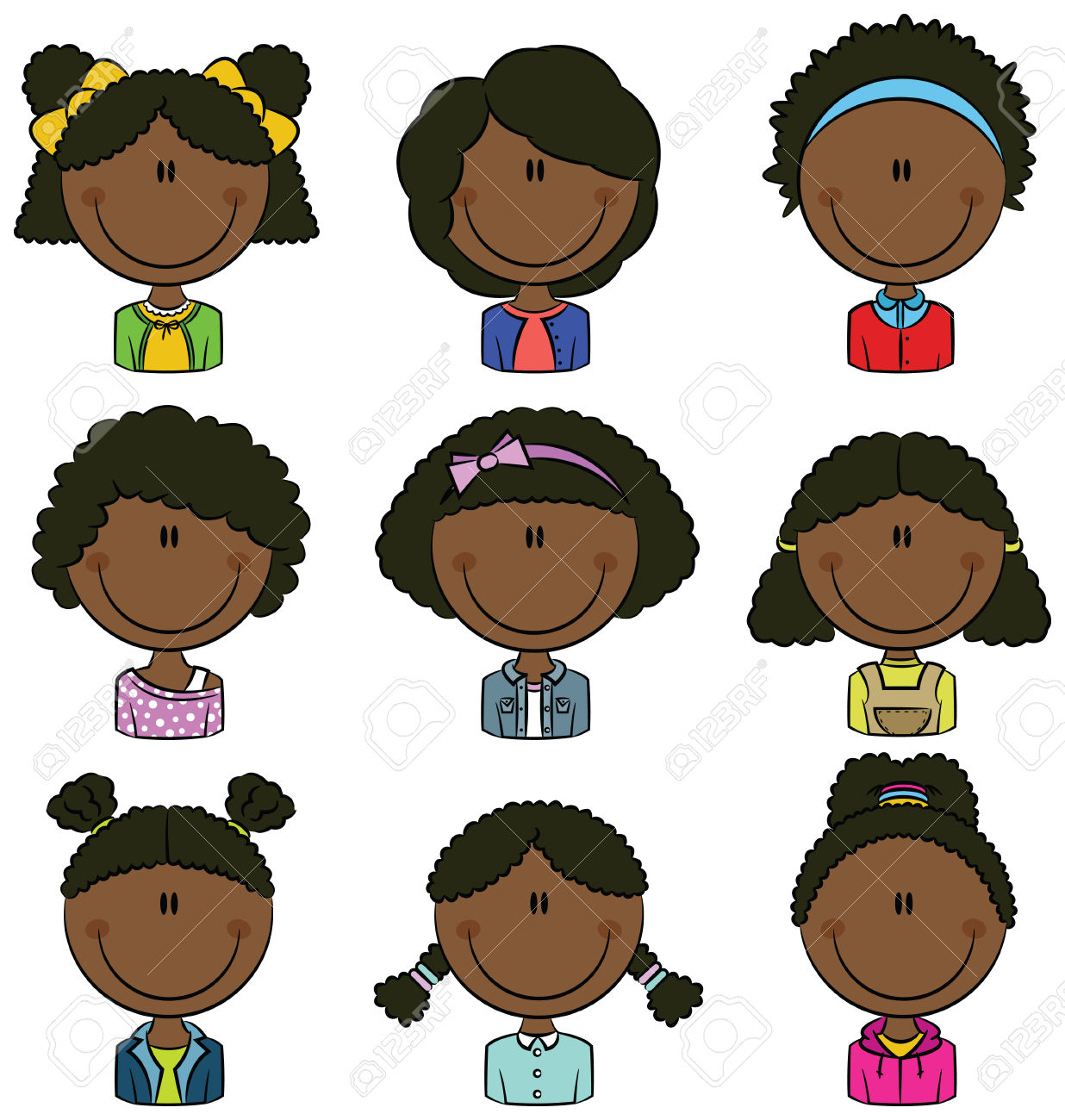 Africanamerican clipart svg transparent african american girls: | Clipart Panda - Free Clipart Images svg transparent