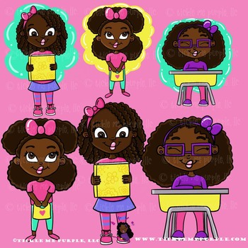 Africanamerican clipart clipart free stock African American Clipart - Back to School Clipart- Back to School Graphics-  Cute clipart free stock