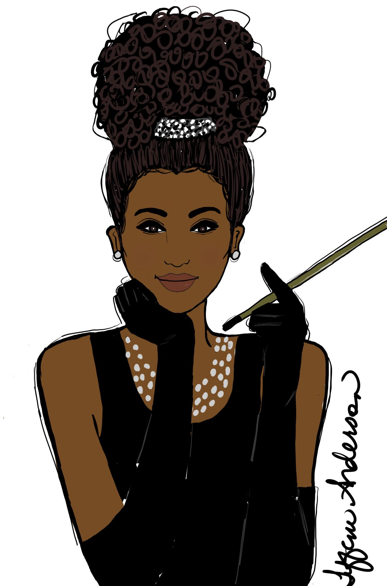 Africian american women reaching to help others clipart graphic free library Breakfast at Tiffany\'s (Naturalista Style) | Tiffani Anderson Art ... graphic free library