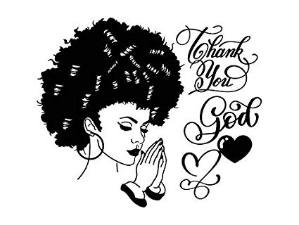 Afro clipart images clip art library library Amazon.com: Yetta Quiller Afro Woman Praying Lord Queen Natural Afro ... clip art library library