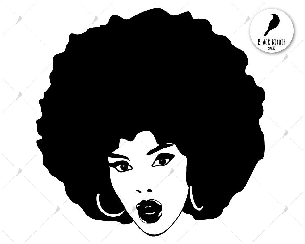 Black girl with afro clipart jpg free stock Black woman svg black woman clipart afro svg afro clipart | Etsy ... jpg free stock