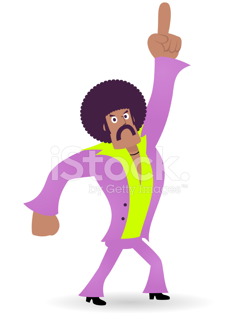 Afro disco man clipart clipart library stock King of Disco, Dancing Man,1970s Styled Dude Points Upward Stock ... clipart library stock