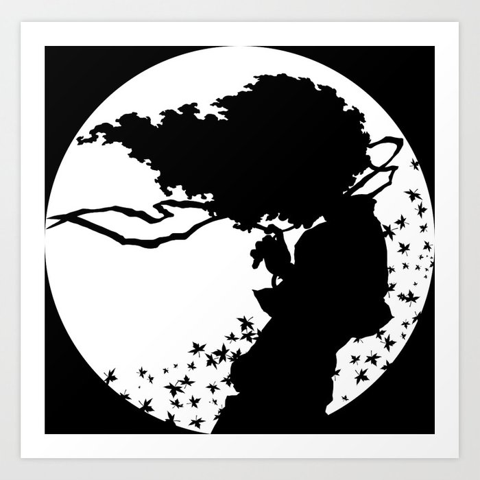 Afro samurai clipart clip black and white library Afro Samurai Art Print by proxishdesigns clip black and white library