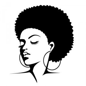 Afro silhouette clipart png free library Afro Silhouette Clip Art | Clipart Panda - Free Clipart Images png free library