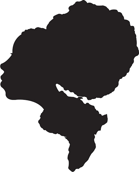 Afro silhouette clipart image stock Afro Silhouette - Free Clipart image stock