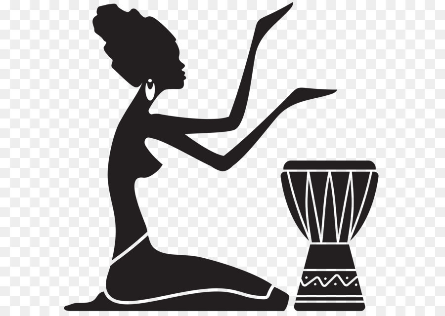 Afro silhouette clipart vector Free Woman Afro Silhouette, Download Free Clip Art, Free Clip Art on ... vector