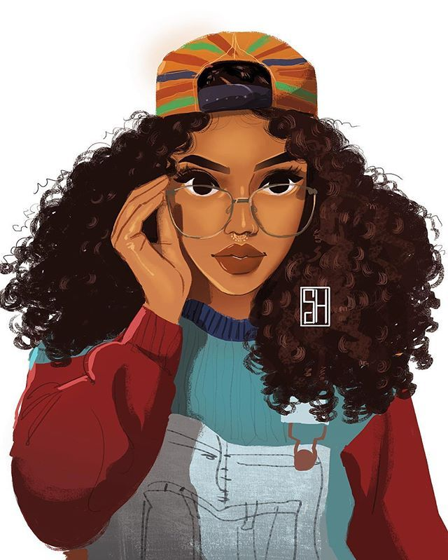 Afro woman clipart in color vector transparent library Color theory. | Artsy | Black girl art, Black women art, Black art ... vector transparent library