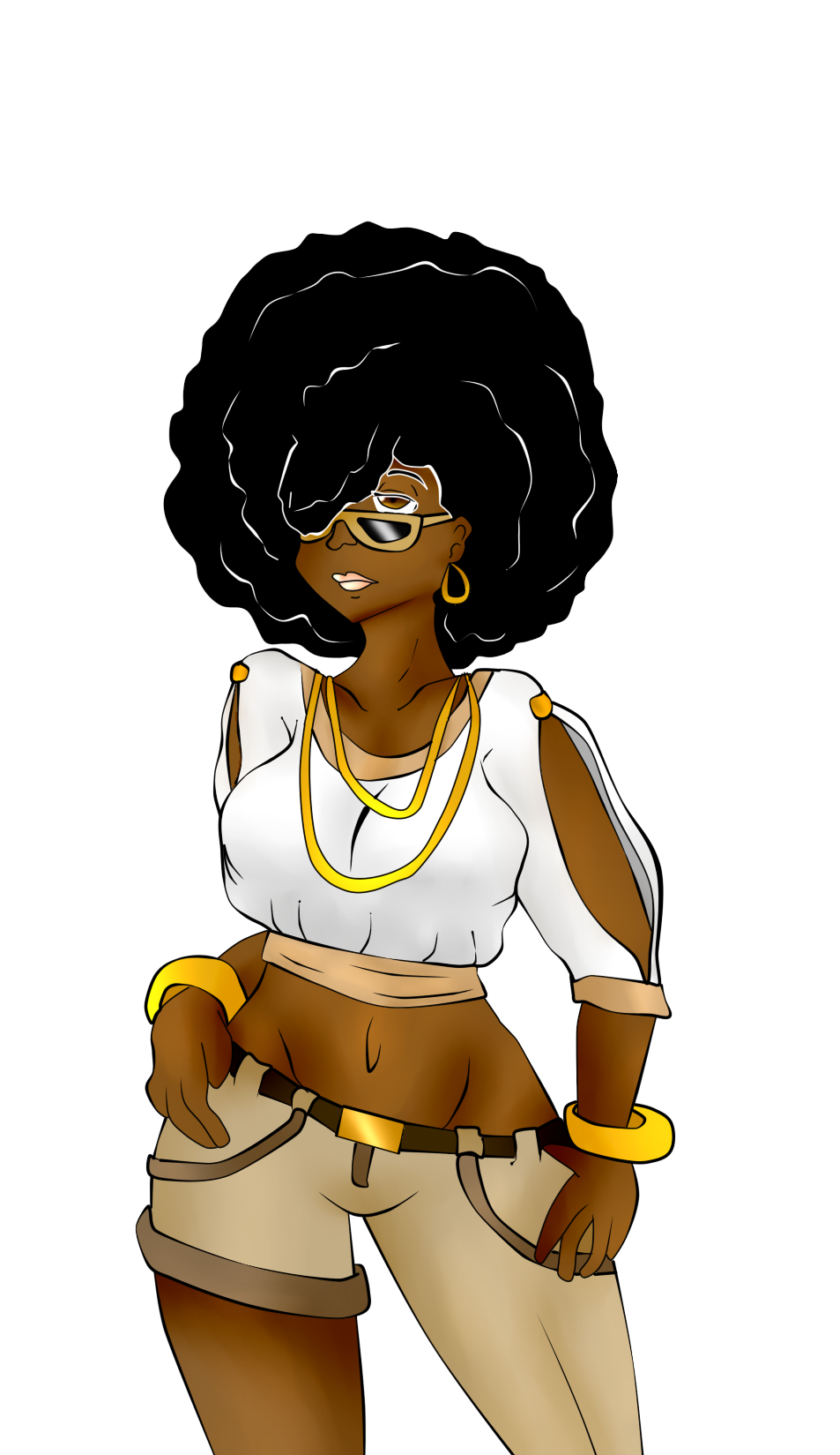 Afro woman clipart in color svg free Afro girl | Black Art | Black girl art, Afro girl, Black women art svg free