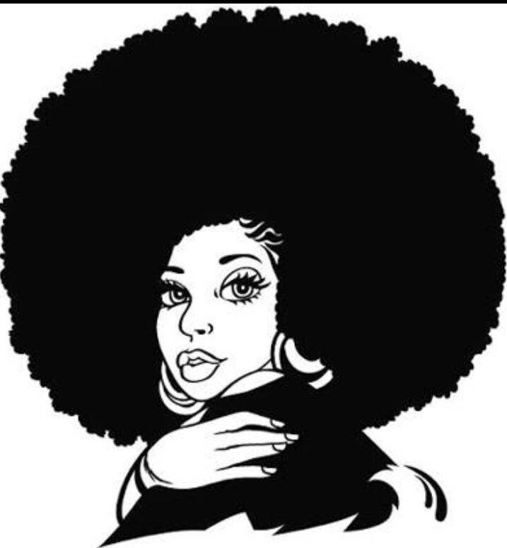 Afro woman hair clipart vector freeuse Pin by Kalia Madden on Natural Beauty   Silhouette clip art, Natural ... vector freeuse