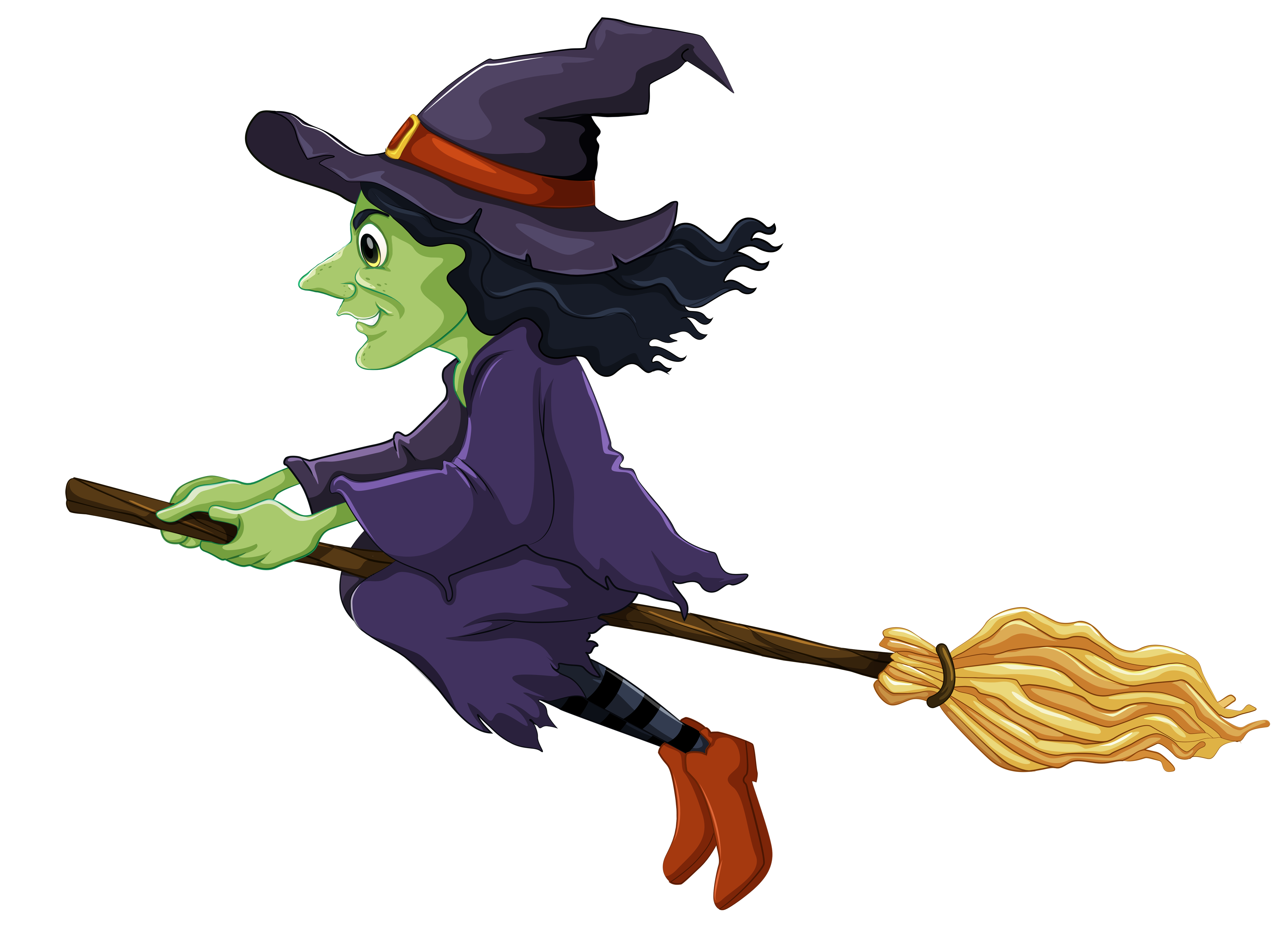 Witch halloween clipart graphic free download Halloween Witch Clipart | Gallery Yopriceville - High-Quality ... graphic free download
