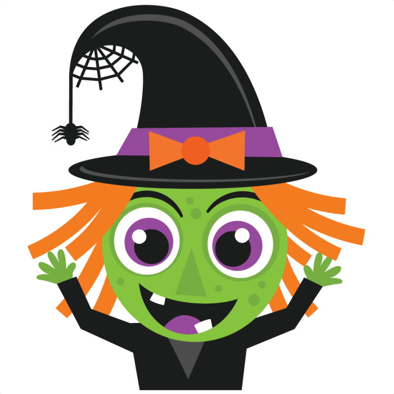 Cute halloween costume clipart vector freeuse stock Halloween Witch SVG scrapbook cut file cute clipart files for ... vector freeuse stock