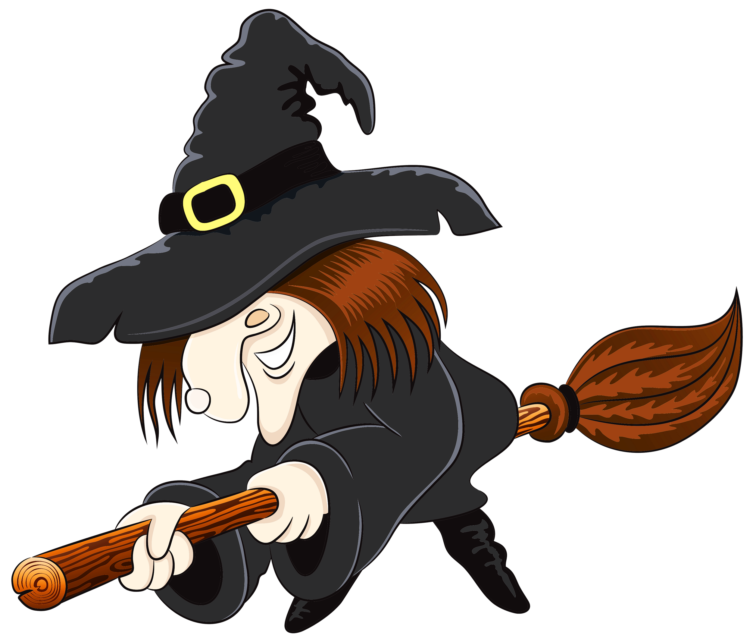 Colorful halloween clipart image black and white stock Halloween Witch PNG Clipart | Gallery Yopriceville - High-Quality ... image black and white stock