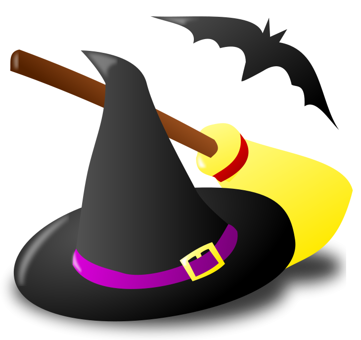 Clipart halloween bat picture freeuse library Halloween Witch Free Clipart picture freeuse library