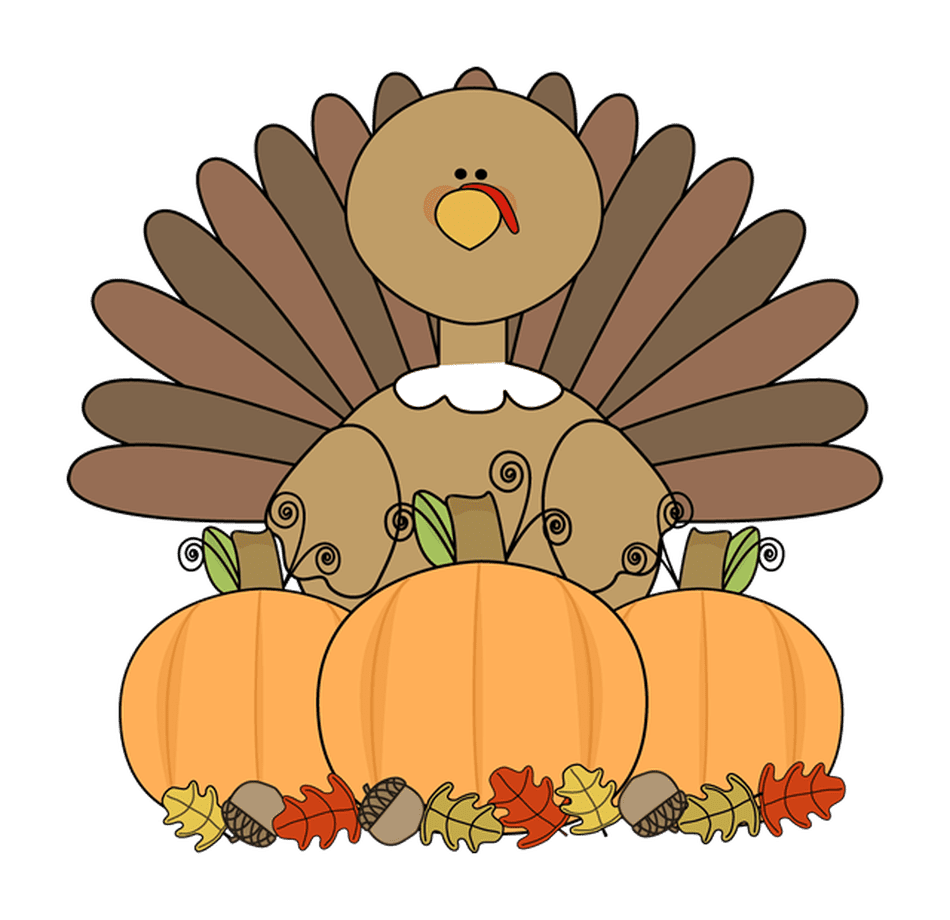 Turkey cute clipart png image royalty free library 493 Free Thanksgiving Clip Art Images image royalty free library