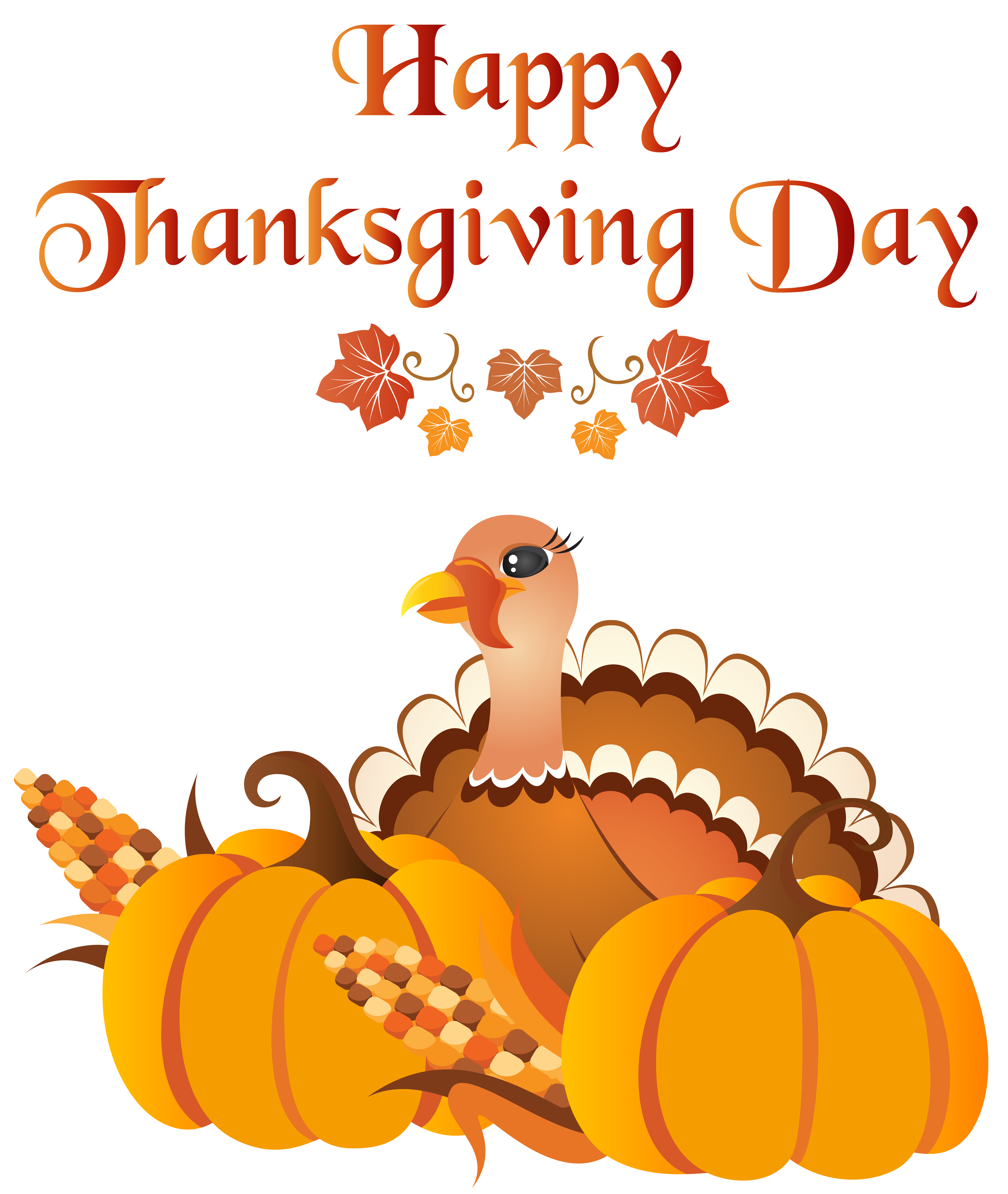 After thanksgiving day clipart image royalty free stock Happy Thanksgiving Day with Turkey PNG Clip Art Image | Gallery ... image royalty free stock