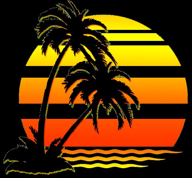 Afternoon sun on horizon clipart clip free stock La Puesta del Sol clip free stock