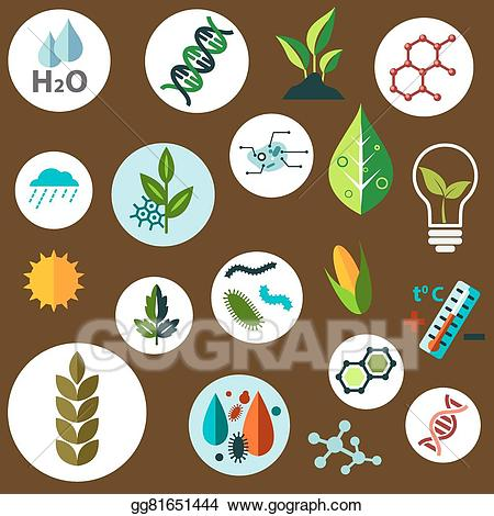 Ag science clipart png Vector Art - Science and agronomic research flat icons. EPS clipart ... png