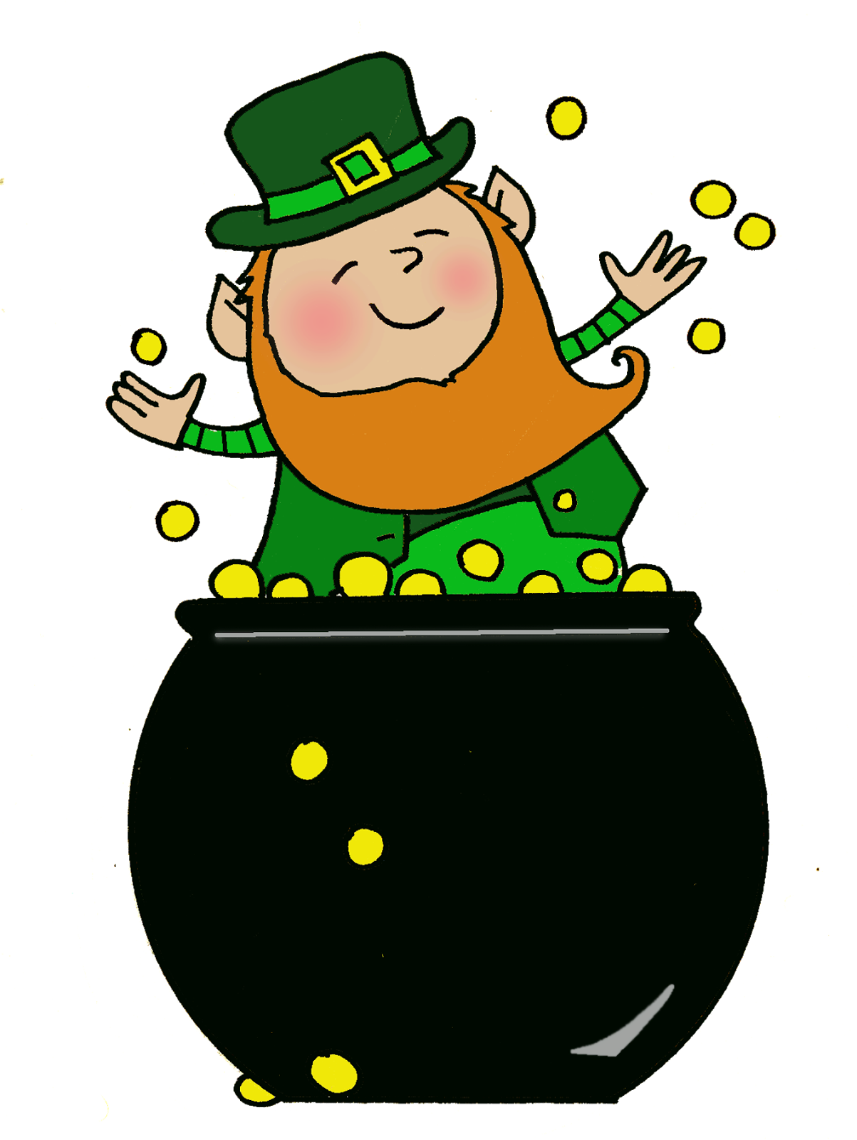 Agape fish clipart clipart black and white library Pot-of-Gold-Leprechaun.png (1203×1600) | CLIP ART & gifs #4 ... clipart black and white library
