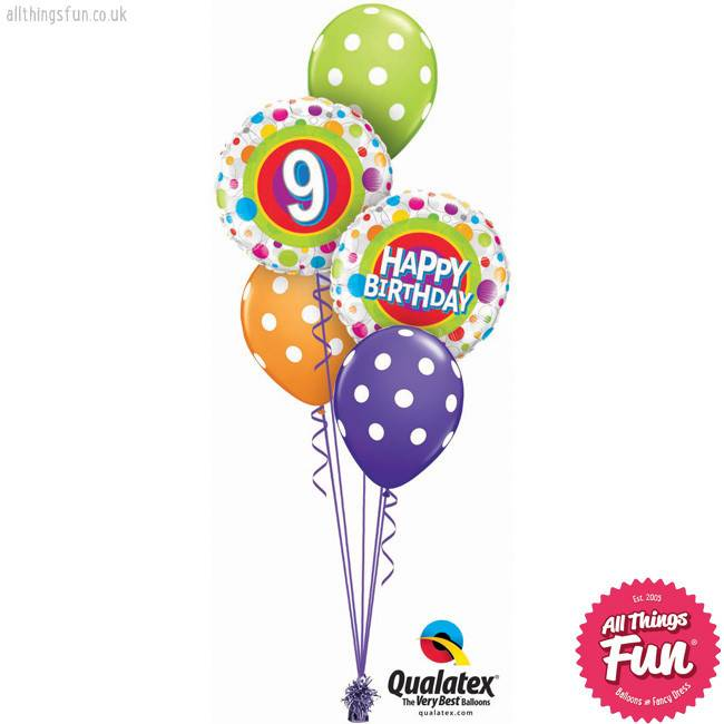 Age 6 birthday balloon clipart graphic free library Colourful Dots Birthday Classic (Ages 6 to 13) graphic free library