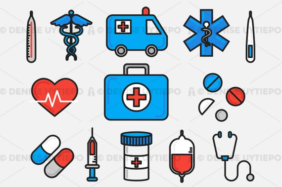 Agency healthcare clipart clipart free Medical Clipart / Healthcare Clipart / Hospital Clipart Set Outlined ... clipart free
