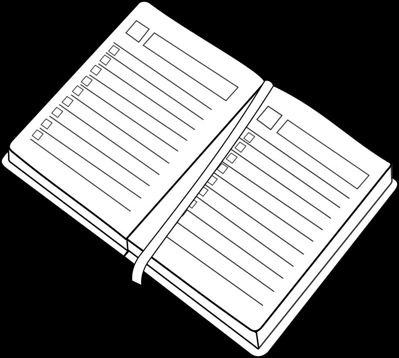 Agenda book clipart banner transparent Clipart - agenda / planner banner transparent