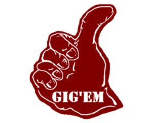 Aggie thumb clipart banner black and white stock Gig\'em aggies:) | Southern Hospitality | Texas A&M, Texas, Eyes of texas banner black and white stock