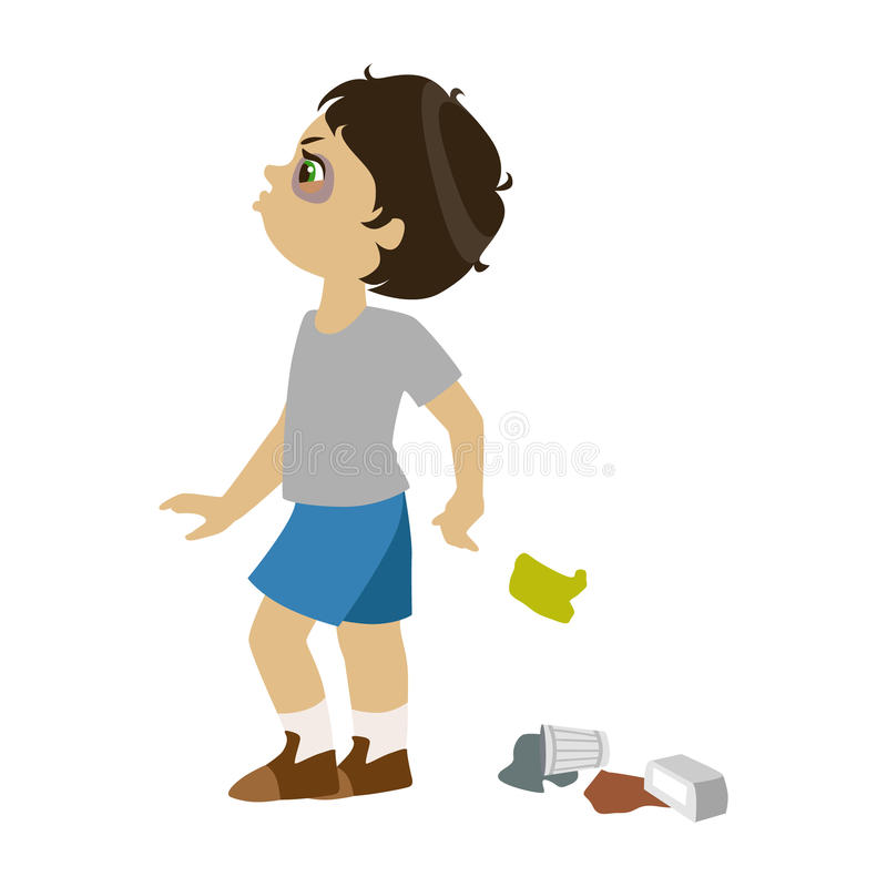 Behavior chart of person throwing something clipart