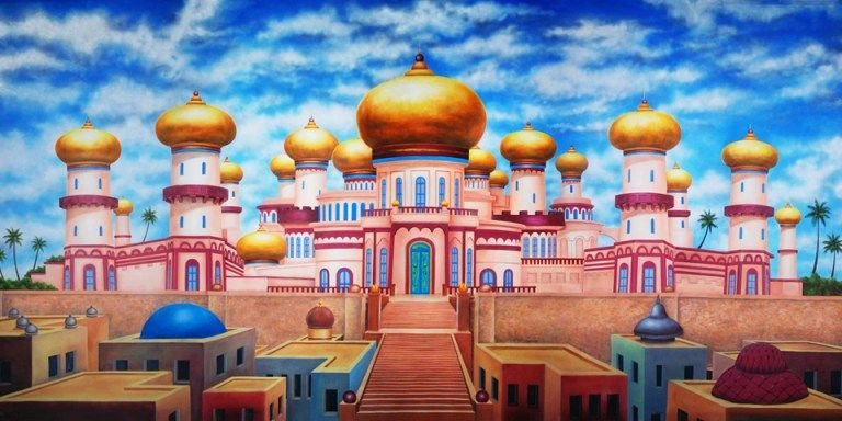 Agrabah clipart jpg library library Agrabah Palace Exterior Scenic Backdrop | ALADDIN THE MUSICAL ... jpg library library