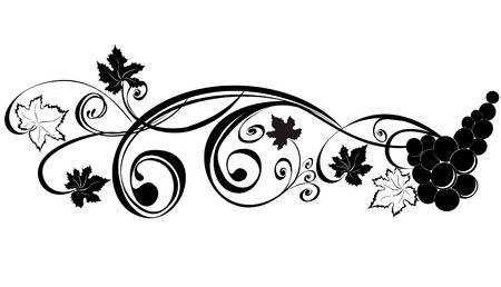 Agrape vines q clipart black and white image stock Grape vine clipart black and white 4 » Clipart Portal image stock