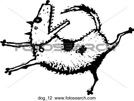 Agree dog chase black and white clipart picture library stock Clipart of Dog 12 dog_12 - Search Clip Art, Illustration Murals ... picture library stock