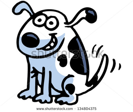Agree dog chase black and white clipart jpg royalty free stock Dog Wagging Tail Stock Images, Royalty-Free Images & Vectors ... jpg royalty free stock