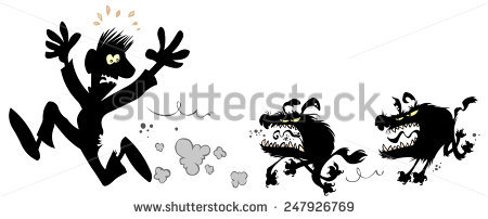 Agree dog chase black and white clipart graphic transparent library Funny Cartoon Girl Walking Dog Stock Vector 79424380 - Shutterstock graphic transparent library
