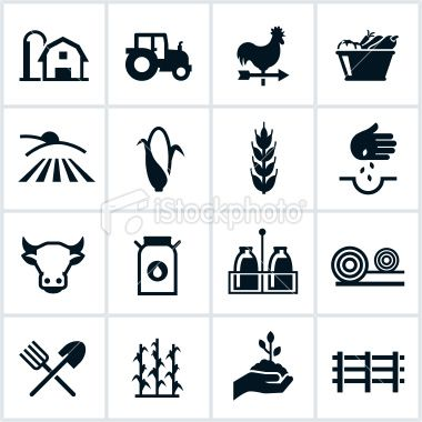 Agriculture symbol clipart png transparent download Farming and agriculture related icons. All white strokes and shapes ... png transparent download