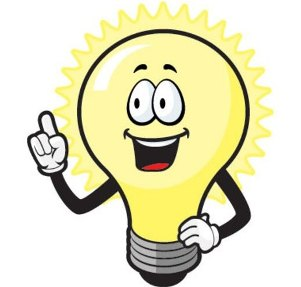 Aha lightbulb clipart image black and white stock Light Bulb (Idea) » Facing My Mortality image black and white stock