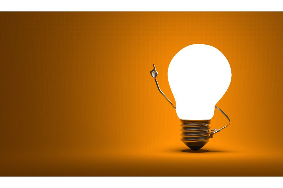 Aha lightbulb clipart jpg royalty free library Light bulb character, aha moment jpg royalty free library