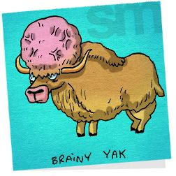 Ah-ha moment yak clipart picture freeuse stock Animal Pun: brainy yak | Sticky puns | Animal puns, Puns, Jokes picture freeuse stock