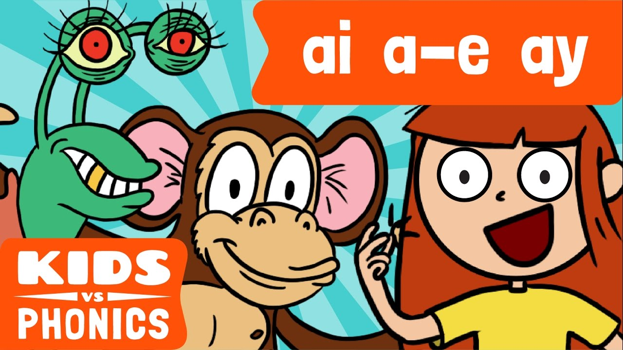 Ai ay clipart svg library library AI , A - E and AY | Similar Sounds | Sounds Alike | How to Read | Made by  Kids vs Phonics svg library library