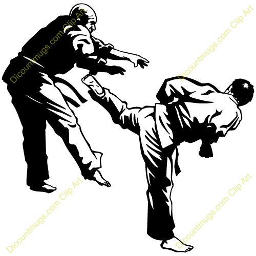 Aikido clipart image black and white download man kicking opponent, aikido, | Clipart Panda - Free Clipart Images image black and white download