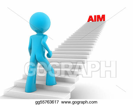 Aim higher clipart jpg black and white stock Clipart - Walking upstairs to aim high. Stock Illustration ... jpg black and white stock