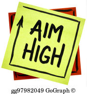 Aim higher clipart graphic free stock Aim High Stock Illustrations - Royalty Free - GoGraph graphic free stock