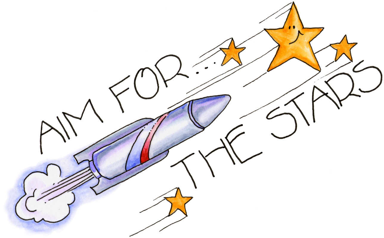 Aim higher clipart clip art transparent library Mirroring my Thoughts...!: Aiming for the stars ! clip art transparent library