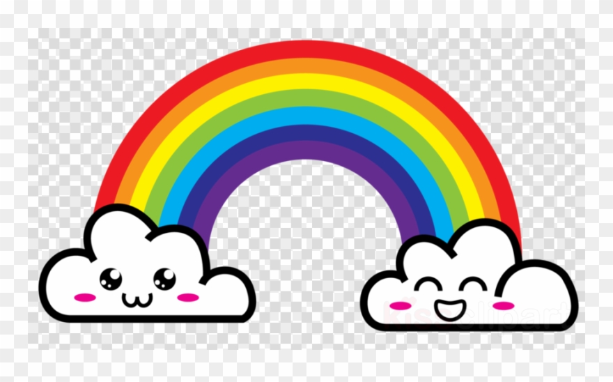 Rainbow and clouds clipart picture black and white library Cloud And Rainbow Clipart Rainbow Cloud - Rainbow With Clouds Png ... picture black and white library