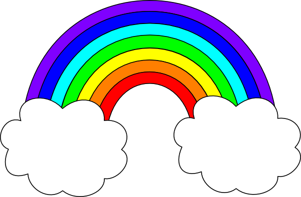 Rainbows clipart transparent library Rainbow with Clouds Clip Art | rainbow with clouds clip art | Early ... transparent library