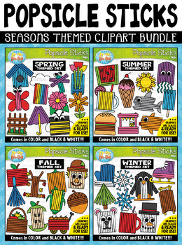 Aip-a-dee-doo-dah clipart vector freeuse stock Seasons Popsicle Sticks Pictures Clipart Mega Bundle {Zip-A-Dee-Doo-Dah  Designs} vector freeuse stock