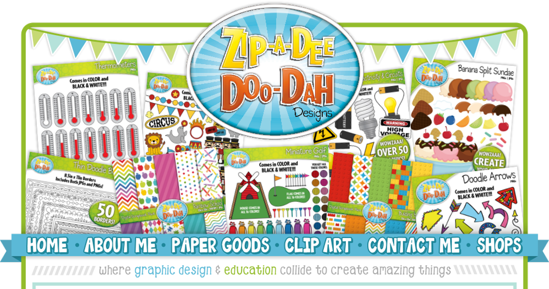 Aip-a-dee-doo-dah clipart clip art Zip-A-Dee-Doo-Dah Designs clip art
