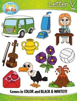 Aip-a-dee-doo-dah clipart graphic library Alphabet Letters V Clipart {Zip-A-Dee-Doo-Dah Designs}   My Teachers ... graphic library
