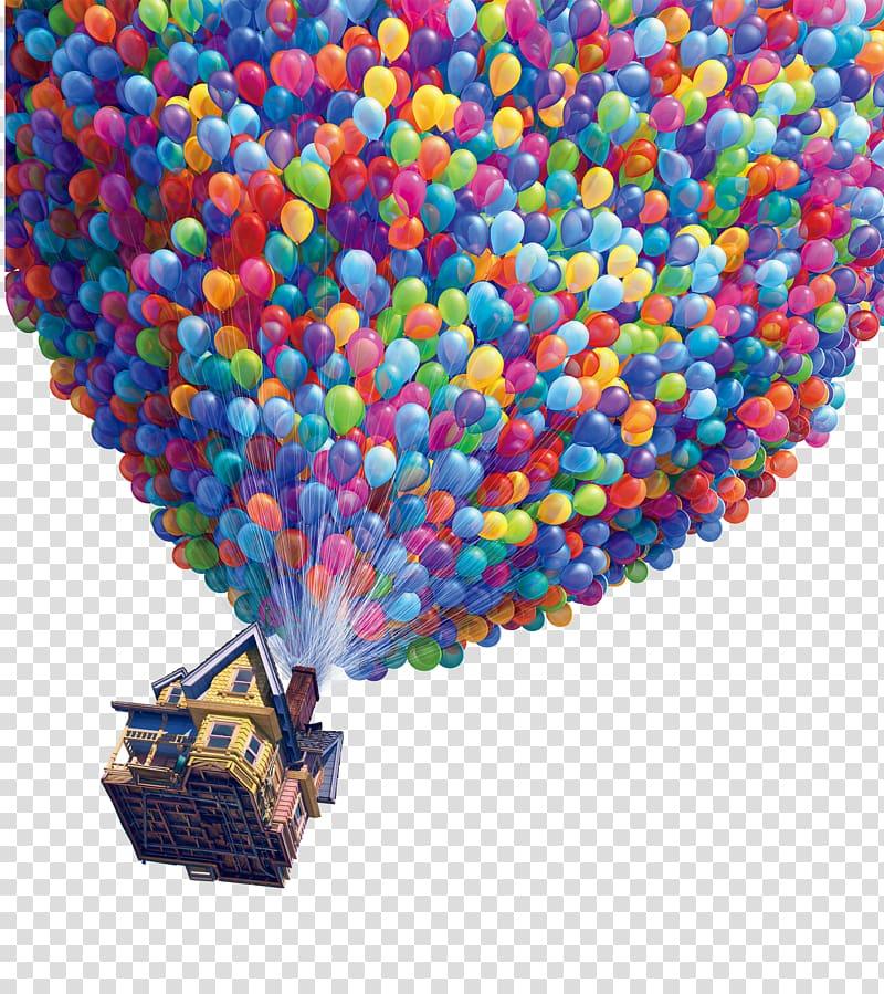 Air balloon up clipart transparent library Up movie still screenshot, Film poster Pixar, balloon transparent ... transparent library