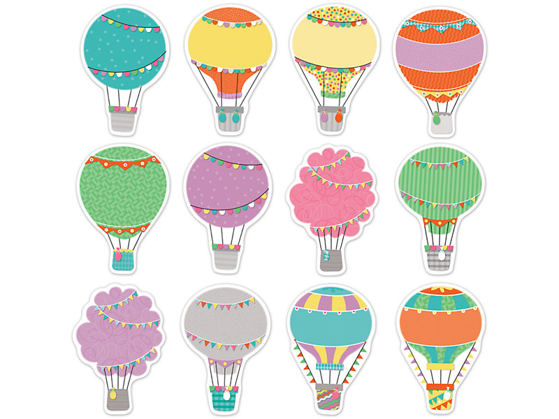 Air balloon up clipart graphic black and white library Up & Away Hot Air Balloon Accents graphic black and white library