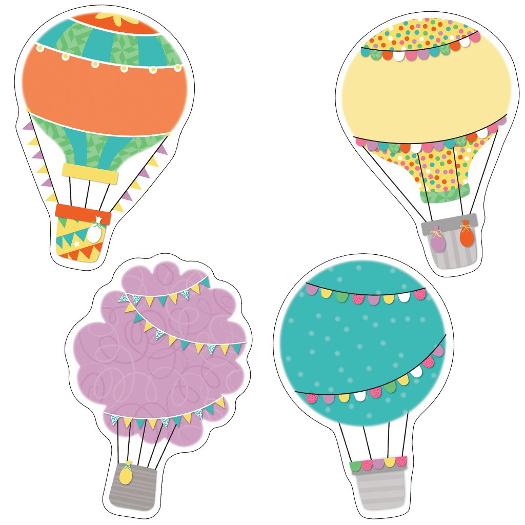 Soar to serve hot air balloon clipart clip art royalty free download Up and Away Hot Air Balloons Cut-Outs: Carson-Dellosa Publishing ... clip art royalty free download